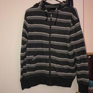 NWOT Striped zip up hoodie